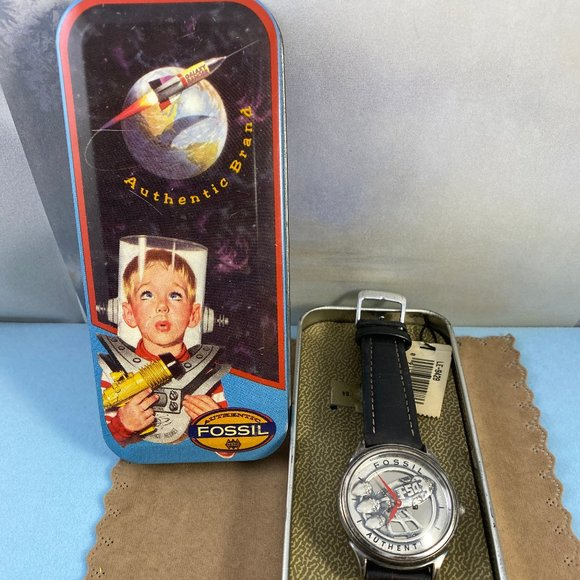 Fossil Other - Vintage Captain Fossil Rocket Man Watch with Tin